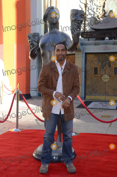 Aldis Hodge Photo - 26 January  - Hollywood Ca - Jason George SAG Awards Actor visits Hollywoods TCL Chinese Theater with SAG Awards nominees Aldis Hodge and Neil Brown Jr held at TCL Chinese Theater  Photo Credit Birdie ThompsonAdMedia