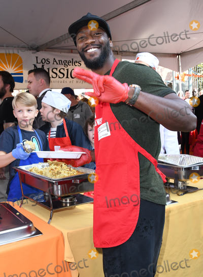 Aldis Hodges Photo - 21 November 2018 - Los Angeles California - Aldis Hodge 2018 LA Mission Thanksgiving held at LA Mission Photo Credit Birdie ThompsonAdMedia