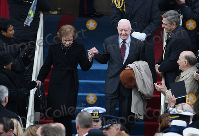President Jimmy Carter Photo - Former President Jimmy Carter and wife Rosalynn walk down the steps during the Inauguration Ceremony of President Donald Trump on the West Front of the US Capitol on January 20 2017 in Washington DC  Trump became the 45th President of the United States Photo Credit Pat BenicCNPAdMedia