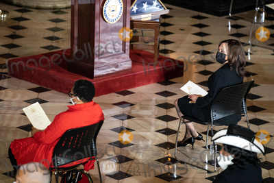 Alcee Hastings Photo - United States Vice President Kamala Harris attends a ceremony celebrating the life of the late US Representative Alcee Hastings (Democrat of Florida) in Statuary Hall of the Capitol in Washington DC on April 21st 2021Credit Anna Moneymaker  Pool via CNPAdMedia