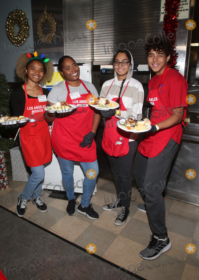 Michael Jackson Photo - 23 December 2019 - Los Angeles California - Shar Jackson Kori Madison Federline Kaleb Michael Jackson Federline Cassilay Monique Jackson Christmas Celebration On Skid Row  held at Los Angeles Mission Photo Credit FSAdMedia