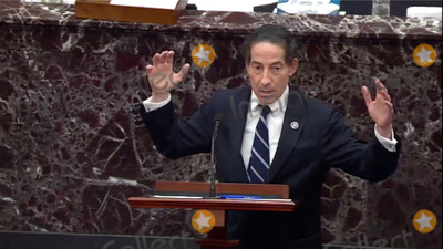 The Used Photo - In this image from United States Senate television US Representative Jamie Raskin (Democrat of Maryland) Lead Manager on the Part of the US House makes his final argument during Day 5 of the second impeachment trial of the former president in the US Senate in the US Capitol in Washington DC on Saturday February 13 2021Mandatory Credit US Senate TV via CNPAdMedia