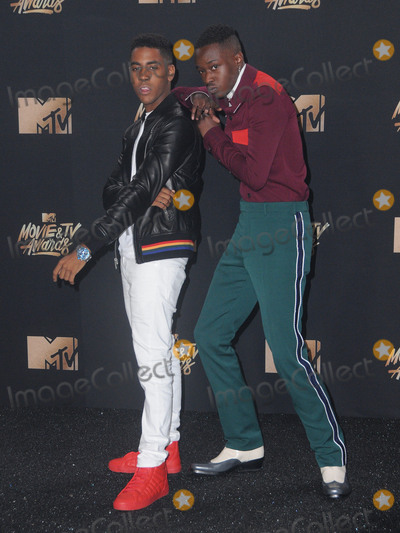 Ashton Sanders Photo - 07 May 2017 - Los Angeles California - Ashton Sanders Jharrel Jerome 2017 MTV Movie Awards - Press Room held at Shrine Auditorium in Los Angeles Photo Credit Birdie ThompsonAdMedia