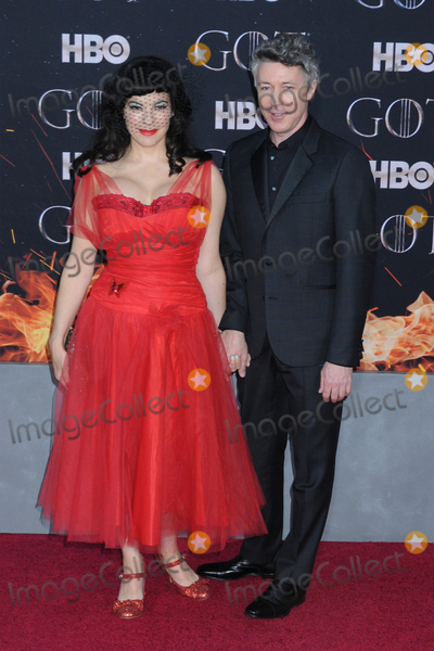 Aidan Gillen Photo - 03 April 2019 - New York New York - Camille OSullivan and Aidan Gillen at the NYC Red Carpet Premiere for final season of HBOs GAME OF THRONES at Radio City Music Hall Photo Credit LJ FotosAdMedia