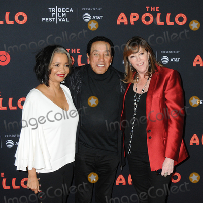 Jonell Photo - 24 April 2019 - New York New York - Jonelle Procope Smokey Robinson and Jane Rosenthal at the Opening Night of the 2019 Tribeca Film Festival World Premiere of HBO Documentary Film THE APOLLO at The Apollo in Harlem Photo Credit LJ FotosAdMedia