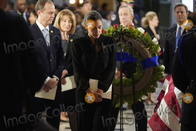 Adam Schiff Photo - United States Representative Alexandria Ocasio-Cortez (Democrat of New York) and US Representative Adam Schiff (Democrat of California) Chairman US House Permanent Select Committee on Intelligence visit the flag-draped casket of US Representative Elijah Cummings (Democrat of Maryland) after a memorial service in Statuary Hall of the US Capitol on Capitol Hill in Washington DC October 24 2019  Credit Joshua Roberts  Pool via CNPAdMedia