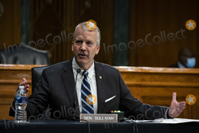 alaska Photo - United States Senator Dan Sullivan (Republican of Alaska) speaks during a US Senate Environment and Public Works Committee hearing with Andrew Wheeler administrator of the Environmental Protection Agency (EPA) not pictured on Capitol Hill in Washington DC US on Wednesday May 20 2020 Credit Al Drago  Pool via CNPAdMedia