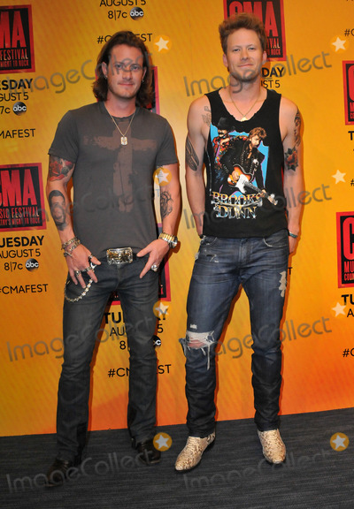 Brian Kelley Photo - 07 June 2014 - Nashville Tennessee - Tyler Hubbard Brian Kelley Florida Georgia Line 2014 CMA Music Festival Nightly Press Conference held at LP Field Photo Credit AdMedia