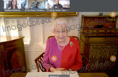 The Calling Photo - 29th November 2020 - Queen Elizabeth II joined a video call this week with three winners of the Commonwealth Points of Light award to celebrate their achievements and the importance of volunteers across the Commonwealth from Windsor Castle The call included The Queens first ever virtual musical performance and virtual tour Photo Credit ALPRAdMedia