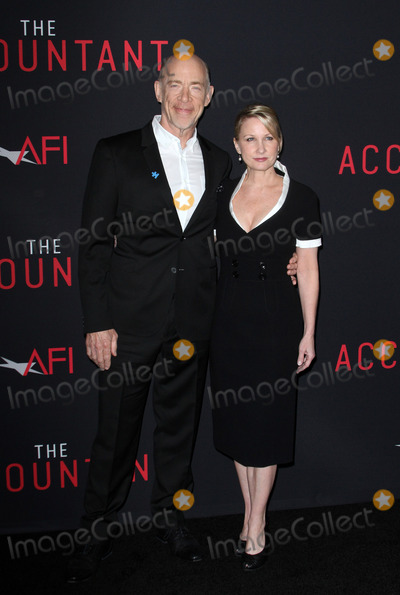 J K Simmons Photo - 10 October 2016 - Los Angeles California - JK Simmons with wife Michelle Schumacher The Accountant Los Angeles World Premiere held at the TCL Chinese Theatre Photo Credit AdMedia