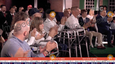 Front Row Photo - In this image from the Republican National Convention video feed disabled people are seated in the front row as United States Vice President Mike Pence delivered his acceptance speech during the third day of the convention  on Wednesday August 26 2020Credit Republican National Convention via CNPAdMedia
