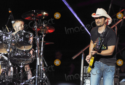 Avery Molek Photo - 01 June 2013 - Burgettstown PA - Country music artist BRAD PAISLEY performs with 6 year old drummer AVERY MOLEK on a stop on his Beat This Summer Tour held at the First Niagara Pavilion  Photo Credit Jason L NelsonAdMedia