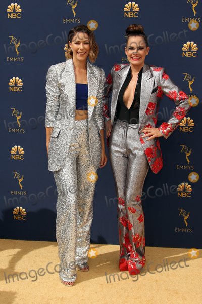 Amanda Crews Photo - 17 September 2018 - Los Angles California - Amanda Crew and Suzanne Cryer 70th Primetime Emmy Awards held at Microsoft Theater LA LIVE Photo Credit Faye SadouAdMedia