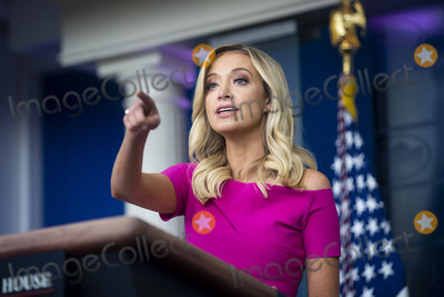 White House Photo - Kayleigh McEnany White House press secretary calls on a reporter during a news conference in the James S Brady Press Briefing Room at the White House in Washington DC US on Monday June 22 2020 Photographer Al DragoBloombergCredit Al Drago  Pool via CNPAdMedia