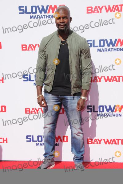 Amine Photo - 22 April 2017 - Los Angeles California - Amin Joseph Baywatch Slow Motion Marathon held at Microsoft Square at LA Live in Los Angeles Photo Credit Birdie ThompsonAdMedia