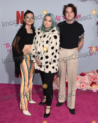Hey Violet Photo - 03 February 2020 - Hollywood California - Rena Lovelis Nia Lovelis and Casey Moreta of Hey Violet Premiere Of Netflixs To All The Boys PS I Still Love You at The Egyptian Theatre Photo Credit Billy BennightAdMedia