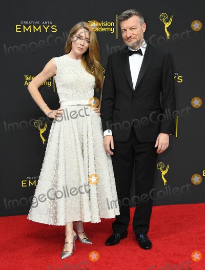 Annabel Jones Photo - 15 September 2019 - Los Angeles California - Charlie Brooker Annabel Jones 2019 Creative Arts Emmys Awards - Arrivals held at Microsoft Theater LA Live Photo Credit Birdie ThompsonAdMedia