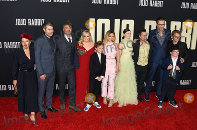 Alfie Allen Photo - 15 October 2019 - Los Angeles California - Chelsea Winstanley Carthew Neal Taika Waititi Rebel Wilson Roman Griffin Davis Scarlett Johansson Thomasin McKenzie Sam Rockwell Stephen Merchant Archie Yates Alfie Allen  Fox Searchlight Jojo Rabbit Los Angeles Premiere held at American Legion Post 43 Photo Credit Billy BennightAdMedia