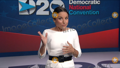 Julia Louis-Dreyfus Photo - In this image from the Democratic National Convention video feed American actress Julia Louis-Dreyfus makes introductory remarks on the last night of the convention on Thursday August 20 2020Credit Democratic National Convention via CNPAdMedia