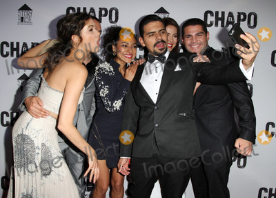 Abril Schreiber Photo - 19 April 2017 - Los Angeles California - Abril Schreiber Juan Carlos Olivas Tete Espinoza Alejandro Aguilar Juliette Pardau and Marco De La O Univisions El Chapo Original Series Premiere Event held at The Landmark Theatre Photo Credit AdMedia