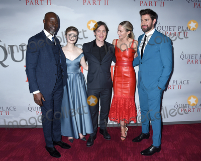 Djimon Hounsou Photo - 08 March 2020 - New York New York - Djimon Hounsou Millicent Simmonds Cillian Murphy Emily Blunt and John Krasinski at the World Premiere of A QUIET PLACE PART II in the Rose Theater at Jazz at Lincoln Center Frederick P Rose Hall Photo Credit LJ FotosAdMedia