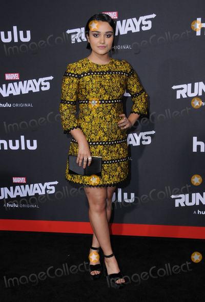 Ariela Barer Photo - 16 November  2017 - Westwood California - Ariela Barer Premiere Of Hulus Marvels Runaways held at Regency Village Theater in Westwood Photo Credit Birdie ThompsonAdMedia