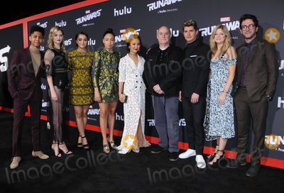 Ariela Barer Photo - 16 November  2017 - Westwood California - Rhenzy Feliz Virginia Gardner Ariela Barer Allegra Acosta Lyrica Okano Jeph Loeb Josh Schwartz Stephanie Savage Gregg Sulkin  Premiere Of Hulus Marvels Runaways held at Regency Village Theater in Westwood Photo Credit Birdie ThompsonAdMedia