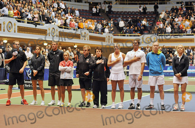 Lauren Davis Photo - 27 October 2011 - Cleveland OH - Thw WTT Smash Hits 2011 Team brought their annual World TeamTennis Smash Hits charity night of tennis to Cleveland for the first time in the events 19-year history (l to r) Tennis greats Andy Roddick Ameilie Mauresmo Mark Knowles Lauren Davis Sir Elton John Billie Jean King Coco Vandeweghe Jan-Michael Gambill John McEnroe and Martina Navratilovajoined other top players for WTT Smash Hits presented held at Public Hall Photo Credit Jason L NelsonAdMedia