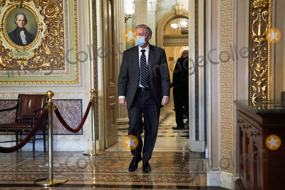 Lindsey Graham Photo - Sen Lindsey Graham (R-SC) is seen in the Senate Reception Room during the fifth day of the impeachment trial of former President Donald Trump on Saturday February 13 2021Credit Greg Nash - Pool via CNPAdMedia