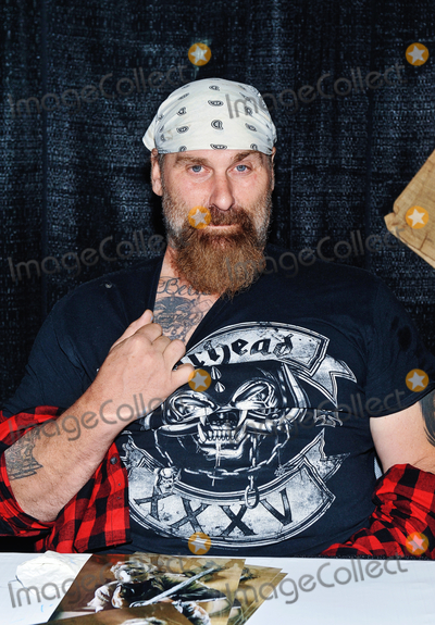 Andrew Bryniarski Photo - 01 October 2017 - Hamilton Ontario Canada  Actor Andrew Bryniarski (best known for his role as Leatherface in the remake of Texas Chain Saw Massacre) at Hamilton Comic Con at the Canadian Warplane Heritage Museum Photo Credit Brent PerniacAdMedia