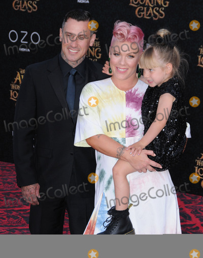 Carey Hart Photo - 24 May 2016 - Hollywood California - Carey Hart Pink Alecia Moore Willow Sage Hart Arrivals for the Premiere Of Disneys Alice Through The Looking Glass held at El Capitan Theater Photo Credit Birdie ThompsonAdMedia