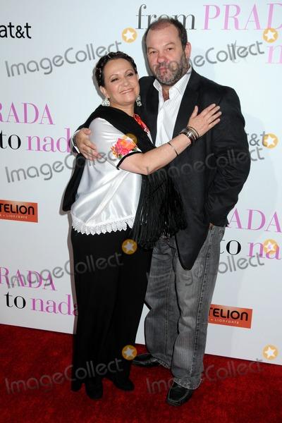 Adriana Barraza Photo - 18 January 2011 - Los Angeles California - Adriana Barraza and Arnaldo Pipke From Prada to Nada World Premiere held at Regal Cinemas LA Live Photo Byron PurvisAdMedia