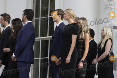 Tiffany Photo - Kimberly Guilfolye Eric Trump Jared Kushner Assistant to the President and Senior Advisor First Daughter and Advisor to the President Ivanka Trump Lara Yunaska Donald Trump Jr and Tiffany Trump wait as pallbearers load the casket of Robert Trump after a service at the White House in Washington DC on Friday August 21 2020    Credit Tasos Katopodis  Pool via CNPAdMedia