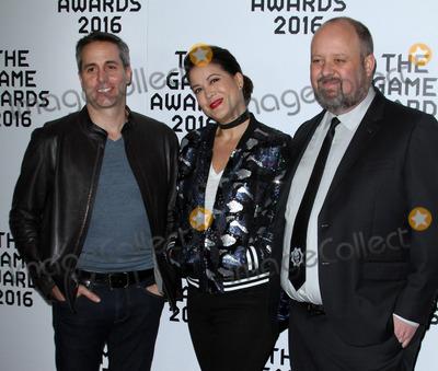 Aaron Greenberg Photo - 1 December 2016 - Los Angeles California - Dan Ayoub Kiki Wolfkill and Aaron Greenberg The Game Awards 2016 held at the Microsoft Theatre Photo Credit AdMedia