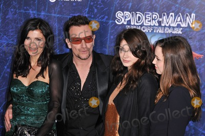 Ali Hewson Photo - 14 June 2011 - New York City NY - Ali Hewson Bono of U2 Eve Hewson and Jordan Hewson Spider-Man Turn Off The Dark Broadway Opening Night held at Foxwoods Theatre Photo Credit Christopher SmithAdMedia