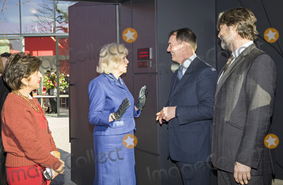 Alan Parker Photo - 06022020 - Maggies London Development Board Chairman Dori Dana Haeri Camilla Duchess of Cornwall Sir Alan Parker and Nathaniel Parker chat during a visit to Maggies at The Royal Marsden in Sutton Greater London Photo Credit ALPRAdMedia