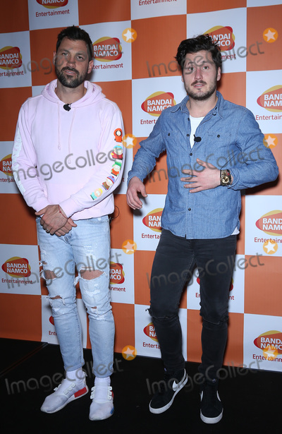 TI Photo - 26 January 2018 - Las Vegas NV - Valentin Chmerkovskiy Maksim Chmerkovskiy Bandai Namco Celebrate the one year anniversary of One Piece Thousand Storm and announce pending release of One Piece Bounty Rush with Maksim Chmerkovskiy and Valentin Chmerkovskiy at TI Photo Credit MJTAdMedia