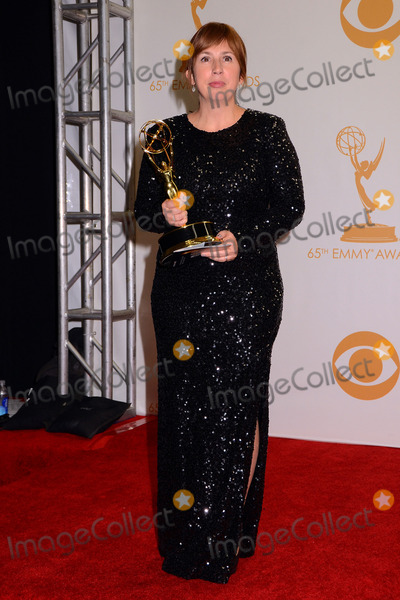 Abi Morgan Photo - 22 September 2013 - Los Angeles California - Abi Morgan 65th Annual Primetime Emmy Awards - Press Room held at Nokia Theatre LA Live Photo Credit Birdie ThompsonAdMedia