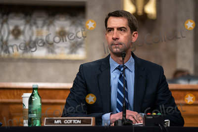 The Unit Photo - United States Senator Tom Cotton (Republican of Arkansas) listens during a hearing on the United States Special Operations Command and United States Cyber Command with the Senate Armed Services Committee on Capitol Hill in Washington DC on March 25th 2021Credit Anna Moneymaker  Pool via CNPAdMedia