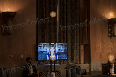 The Faces Photo - Investigative Journalist Sharyl Attkisson responds to questions as she appears virtually before a Senate Committee on Homeland Security and Governmental Affairs hearing to examine Congressional oversight in the face of Executive Branch and media suppression focusing on the case study of Crossfire Hurricane in the Dirksen Senate Office Building in Washington DC Thursday December 3 2020 Credit Rod Lamkey  CNPAdMedia