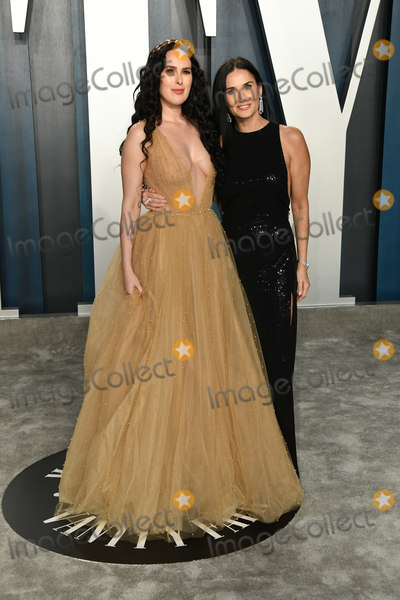 Demi Moore Photo - 09 February 2020 - Los Angeles California - Demi Moore Rumer Willis 2020 Vanity Fair Oscar Party following the 92nd Academy Awards held at the Wallis Annenberg Center for the Performing Arts Photo Credit Birdie ThompsonAdMedia