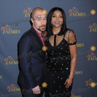Sam Rockwell Photo - 17 March 2019 - New York New York - Sam Rockwell and Taraji P Henson at The Best of Enemies New York Photo Call presented by STX Films at the Whitby Hotel in Midtown Photo Credit LJ FotosAdMedia