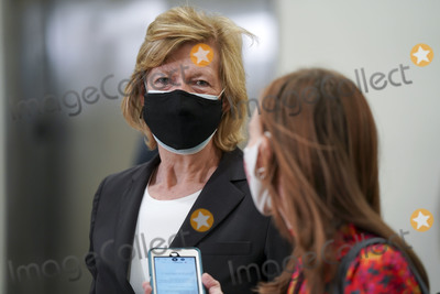 alaska Photo - United States Senator Lisa Murkowski (Republican of Alaska) is seen in the Capitol Subway at the US Capitol in Washington DC on Friday February 12 2021 The legal team for former President Donald Trump begins their presentation of defense today Credit Leigh Vogel  Pool via CNPAdMedia