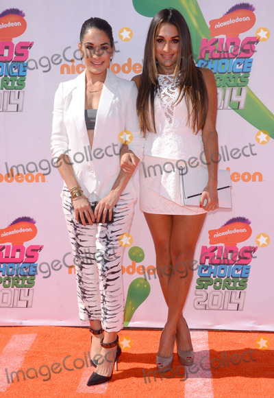 Nikki Bella Photo - 17 July 2014 - Los Angeles California - Brie Bella Nikki Bella Arrivals for the Nickelodeon Kids Choice Sports Awards 2014 held at UCLAs Pauley Pavilion in Los Angeles Ca Photo Credit Birdie ThompsonAdMedia