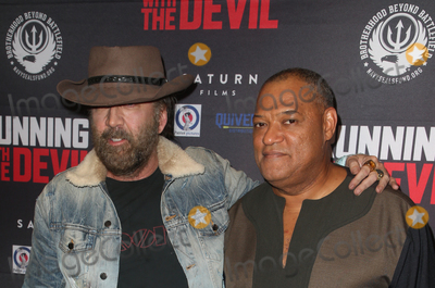 Nicolas Cazal Photo - 16 September 2019 - Beverly Hills California - Laurence Fishburne Nicolas Cage Premiere Of Quiver Distributions Running With The Devil held at Writers Guild Theater Photo Credit FSadouAdMedia