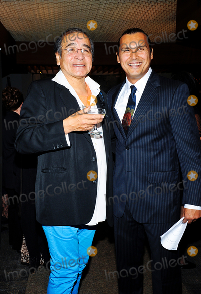 Tomson Highway Photo - 23 October 2014 - Hamilton Ontario Canada  Tomson Highway and Adam Beach pose at the 10th Annual Dreamcatcher Gala held at the Hamilton Convention Centre by Carmens Photo Credit Brent PerniacAdMedia