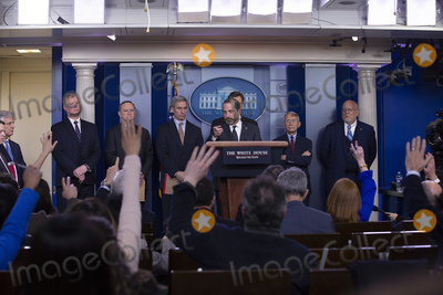 Alex Azar Photo - United States Secretary of Health and Human Services (HHS) Alex Azar takes questions from the media in the James S Brady Press Briefing Room at the White House in Washington DC US on Friday January 31 2020  Azar announced that the United States has declared the Corona virus a public health emergencyCredit Stefani Reynolds  CNPAdMedia
