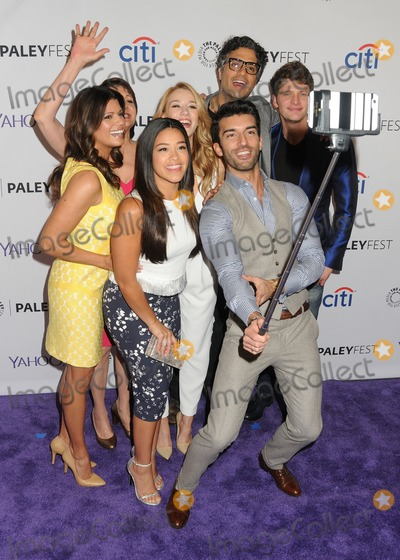 Andrea Nevado Photo - 15 March 2015 - Hollywood California - Andrea Nevado Ivonne Coll Gina Rodriguez Yael Grobglas Justin Baldoni Jaime Camil Brett Dier PaleyFest 2015 - Jane The Virgin held at the Dolby Theatre Photo Credit Byron PurvisAdMedia