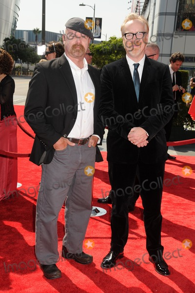 Adam Savage Photo - 10 September 2011 - Los Angeles California - Jamie Hyneman and Adam Savage 2011 Primetime Creative Arts Emmy Awards held at Nokia Theatre LA Live Photo Credit Byron PurvisAdMedia