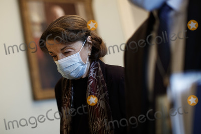 Senator Dianne Feinstein Photo - Senator Dianne Feinstein a Democrat from California wears a protective mask while walking through the US Capitol in Washington DC US on Saturday Feb 13 2021 The Senate approved 55-45 a request to consider calling witnesses in the second impeachment trial of Donald Trump a move that may extend the trial that was expected to end within hours Credit Ting Shen - Pool via CNPAdMedia